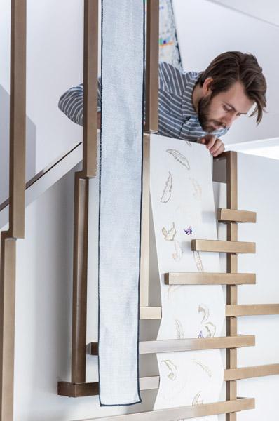 Bespoke metalwork balustrade artwork in situ, 02 of 18