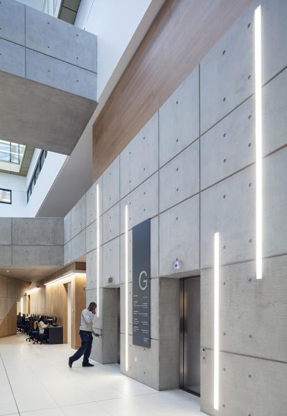 Interior concrete-clad lift core, 03 of 07