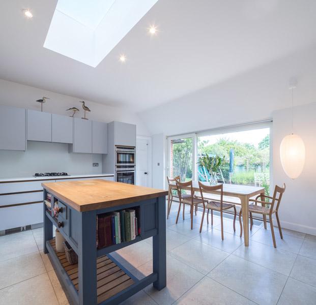Interior kitchen photography showing kitchen island, 03 of 17
