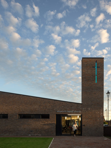 Church exterior featuring brick cladding, 04 of 07