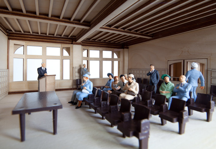 Interior model courtroom photo, 04 of 18