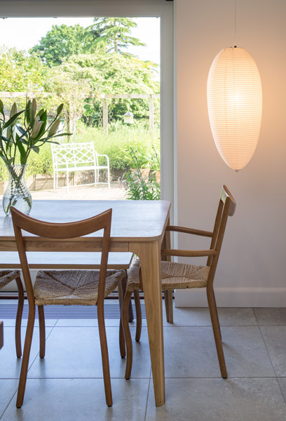 Kitchen table and chairs with feature light, 04 of 17