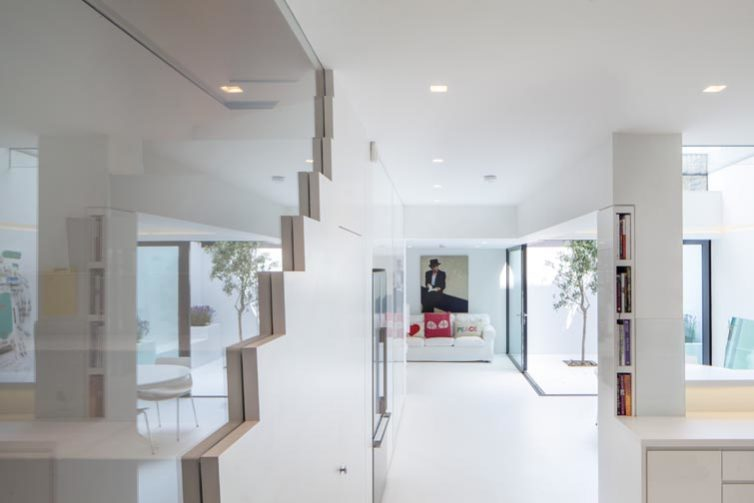 Photograph showing stair and living space, 04 of 20