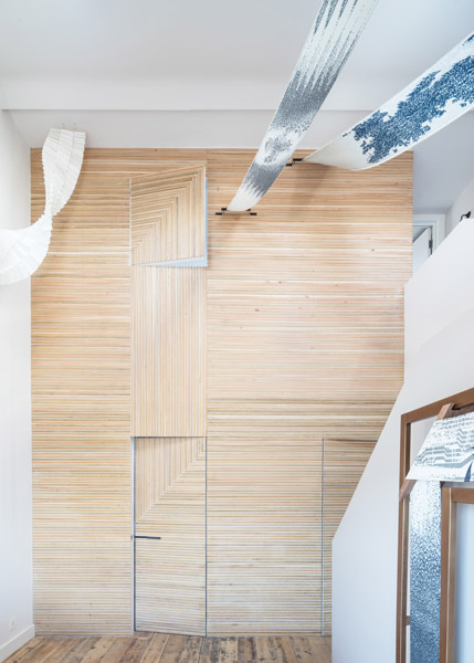 Timber clad interior wall, 05 of 18