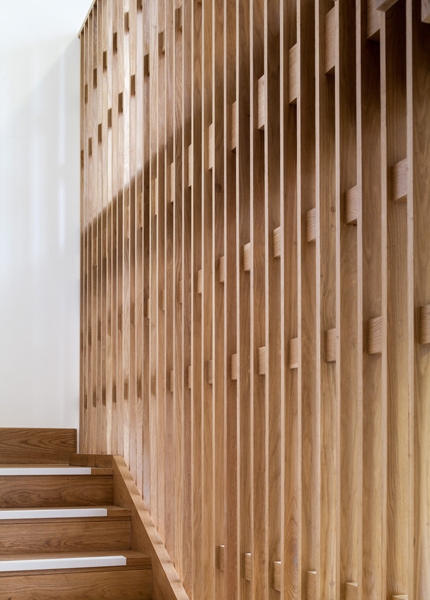 Stair tread and balustrade in timber, detail, 05 of 12