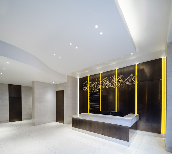 Interior lobby entrance with bespoke sculpture,  08 of 17