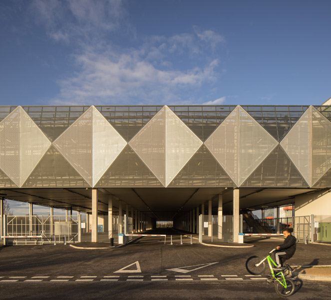 Car park with metal cladding, 10 of 13