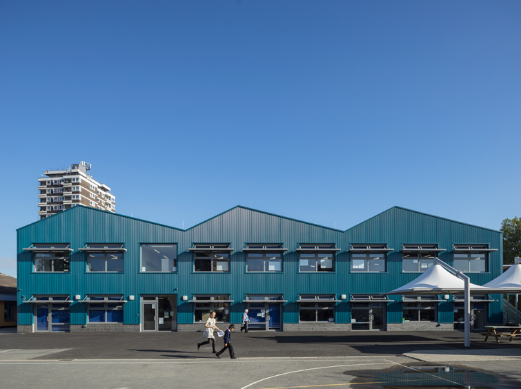 Exterior architectural photography of a school in London, 14 of 24