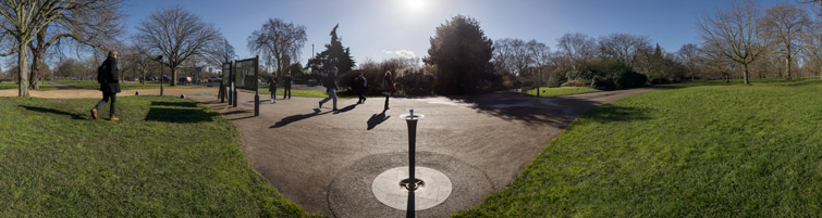 Architectural panorama showing park context, 08 of 10