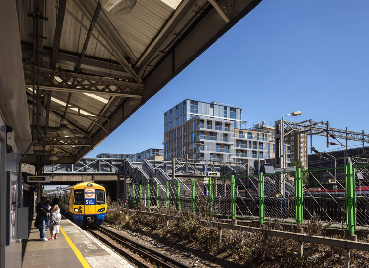 View of the structure from the London tube station platform, 15 of 15