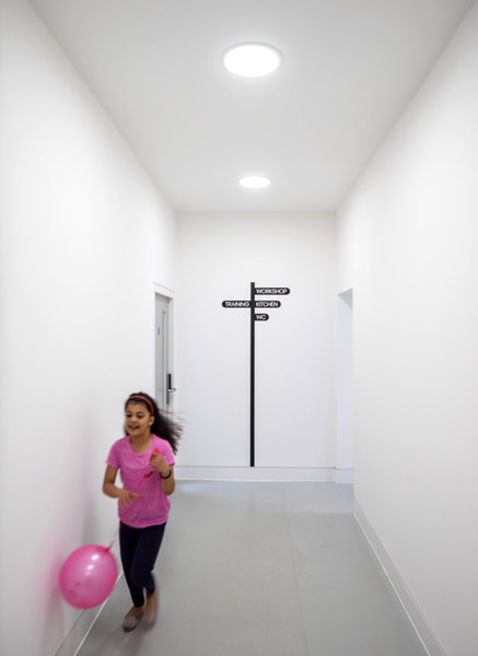 Internal corridor with signage, 03 of 10