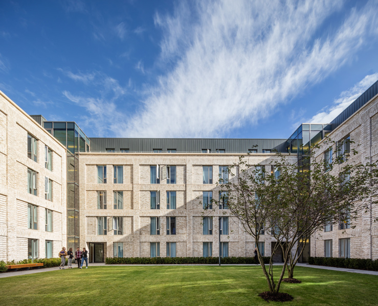 Exterior photograph showing the grass courtyard, 04 of 26.