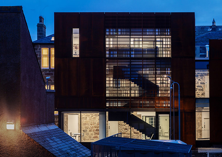 Exterior architectural dusk photography,  Moxon Architects, 18 of 40