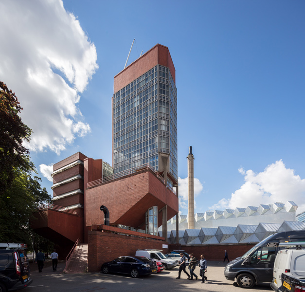 Leicester Engineering Building, designed by James Stirling, London architectural photographer, 01 of 21.