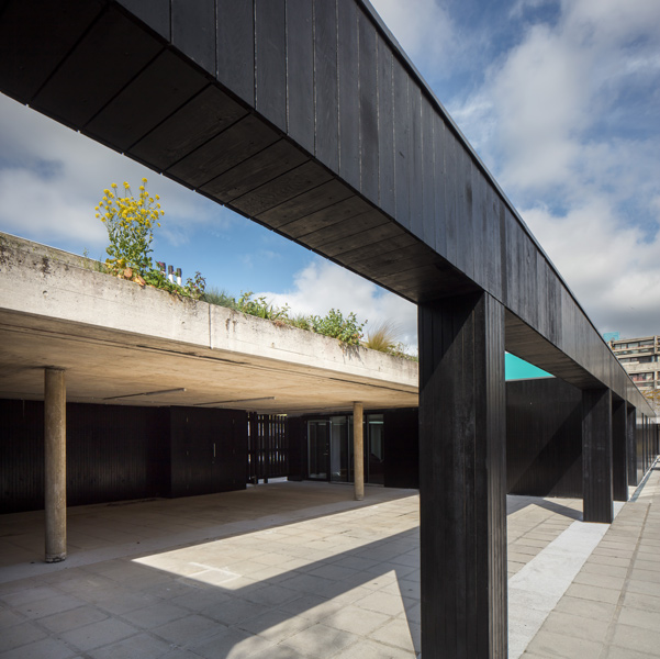Photo showing the black painted boards and carefully refurbished concrete, 03 of 10.