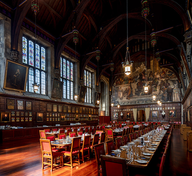 Interior view of the Great Hall at Lincolns-inn-fields, 03 of 07.