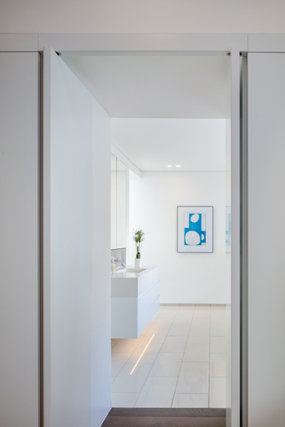 Photograph showing the beautiful frameless door system, 04 of 06.