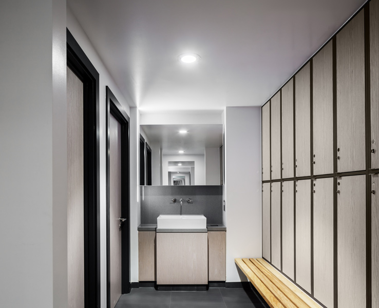 Photograph showing the architecture of the locker room, 04 of 13.