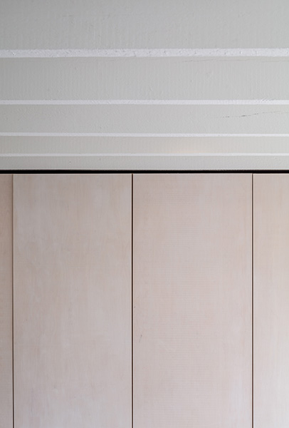 Bedroom cupboards showing refined material palette, 05 of 06.