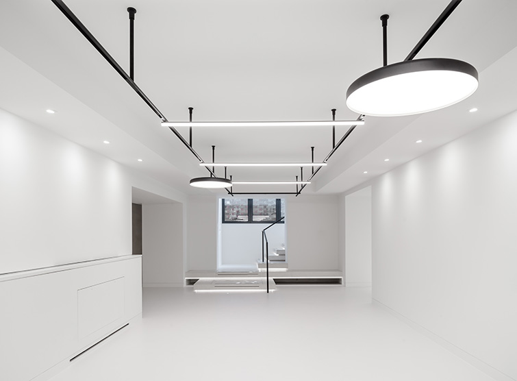 Design features custom black lighting track and bespoke joinery, 05 of 17.