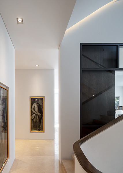 Halls and corridors show clients extensive art collection, 05 of 11.