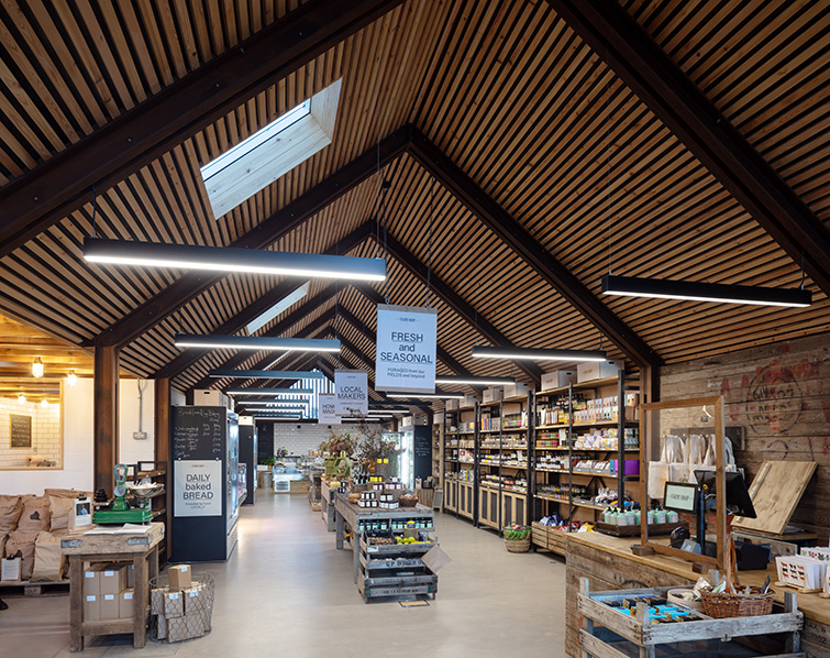 Interior view of the Hauser and Wirth farm shop in Bruton, 05 of 16.