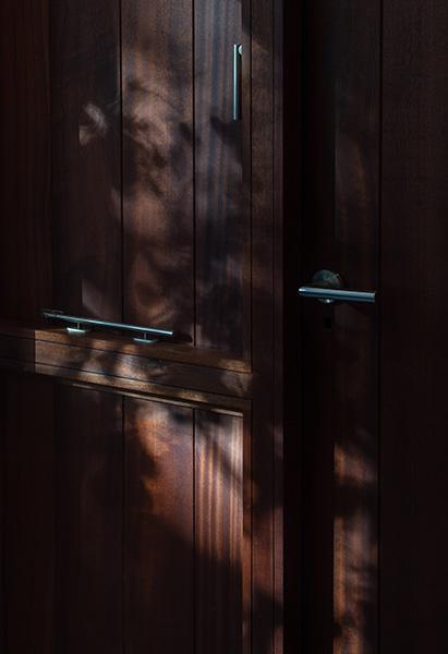 New back door in exquisitely detailed timber, 05 of 08.