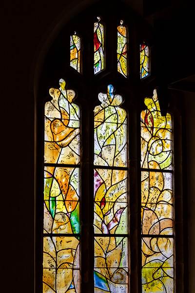 Yellow glass featuring at Tudeley church, 05 of 10.