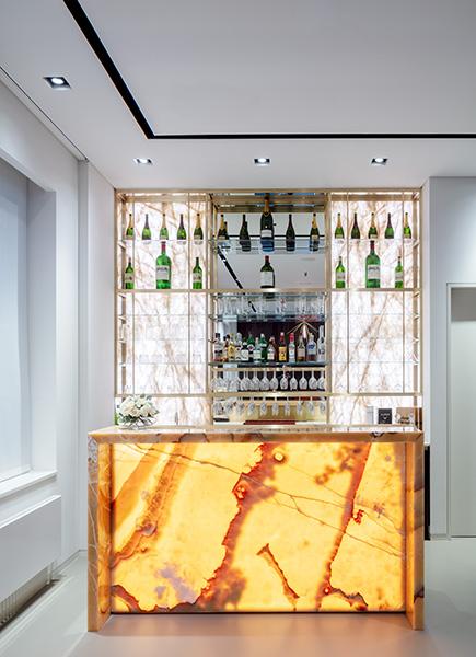 Backlit marble bar, 07 of 11.