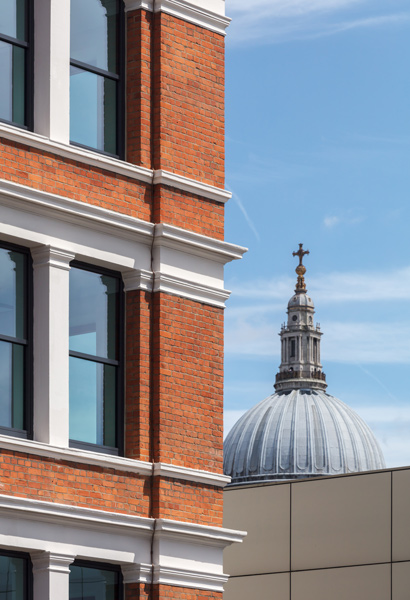 Detail photograph showing the London context of St Paul's Cathedral, 07 of 13.