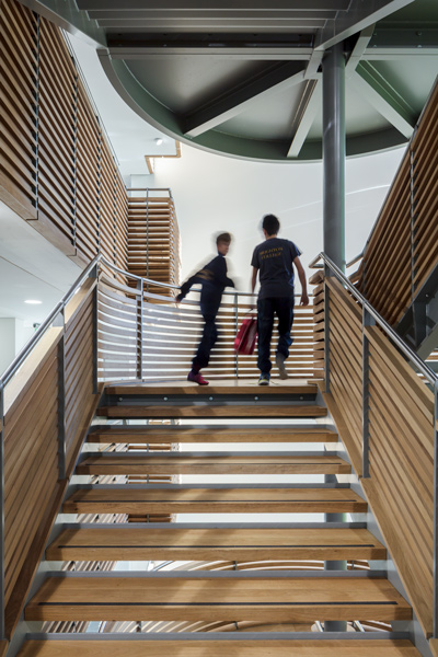 Interior staircase photograph, 07 of 13.
