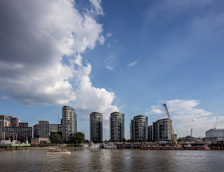 Riverlight Housing from the Thames, London, 07 of 08.
