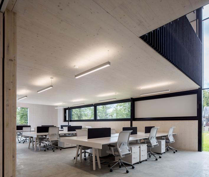 Light. airy, minimalist workstations, 10 of 16.