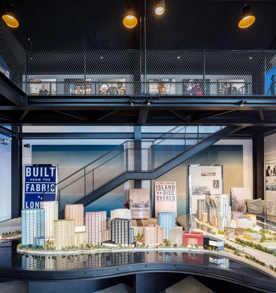 Interior view showing the scale architectural model of the full future development, 10 of 20.