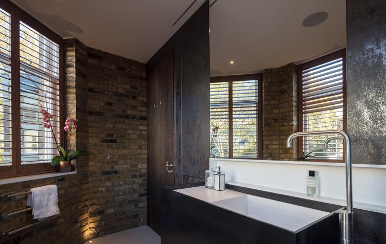 Bathroom with mild steel doors, 12 of 14.