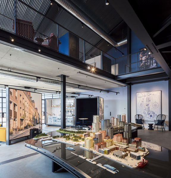 Model featuring within the main double height space, 11 of 20.