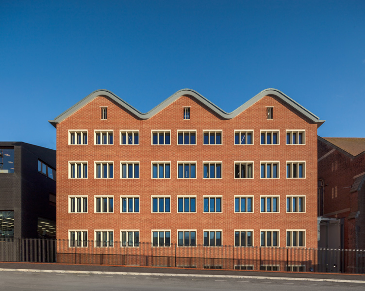 Exterior facade in the sun light, 13 of 13.