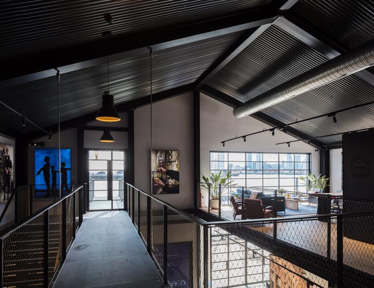 Interior photo of the mezzanine level, 14 of 20.