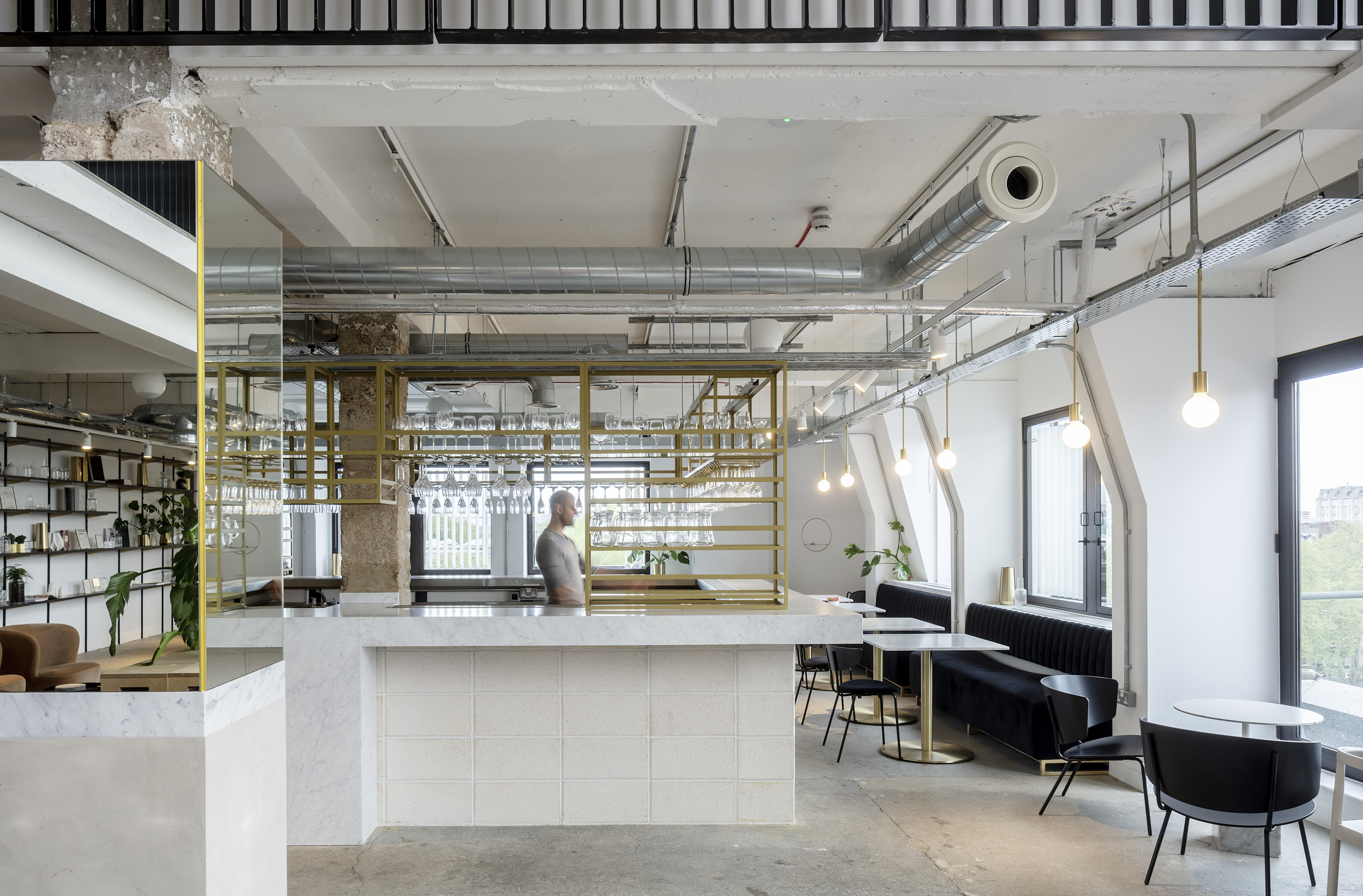 Interior photography showing the new bar at LABS, Holborn, London.