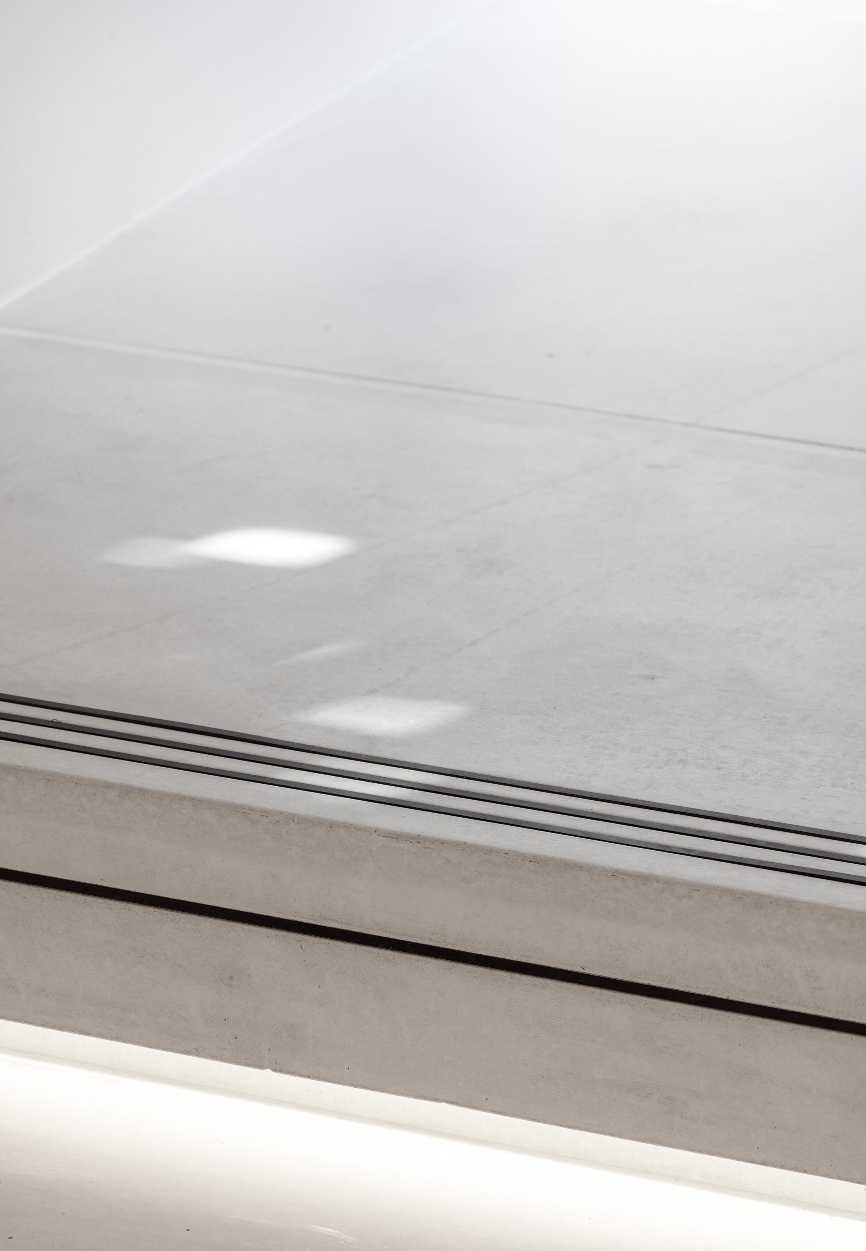 Interior photograph showing the precast concrete nosing detail.