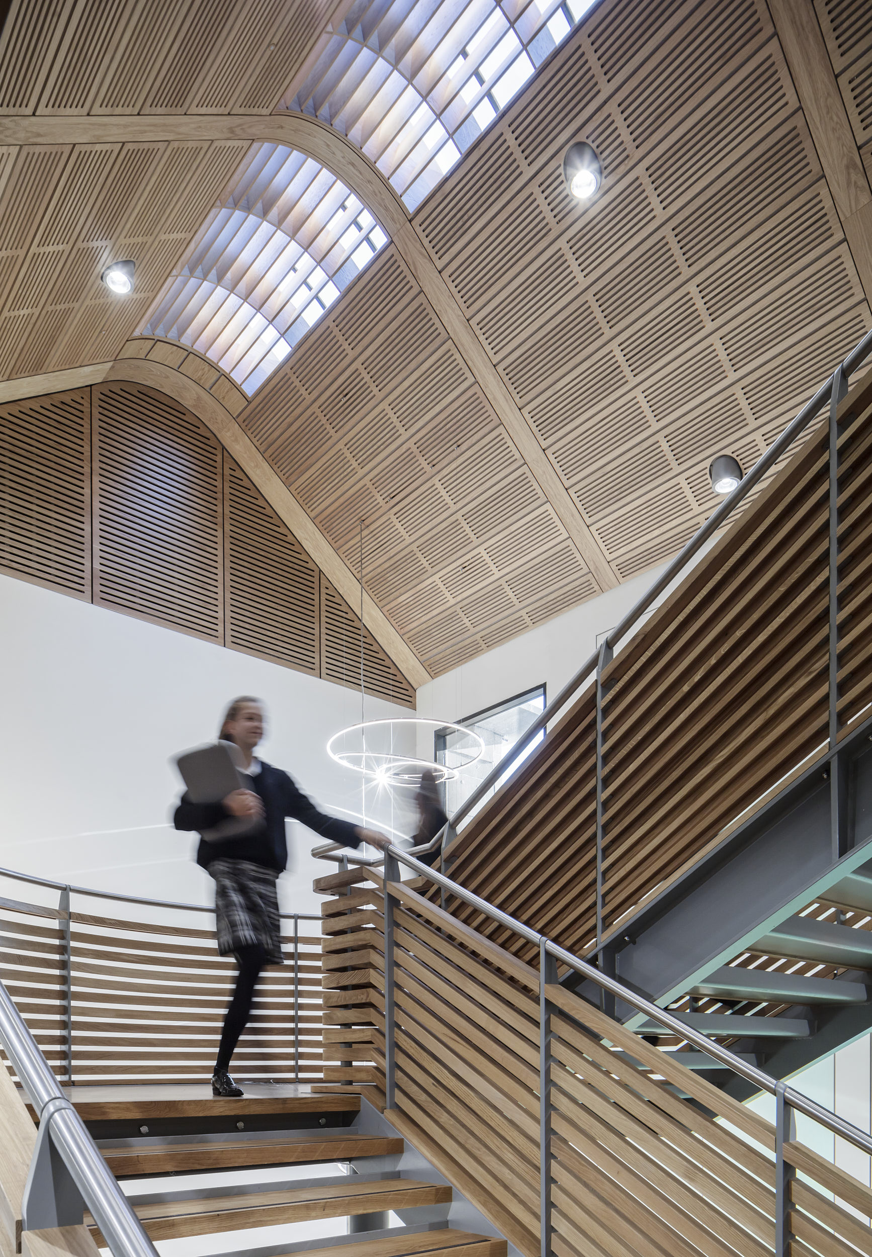The stunning feature stair is the central pivot of the architecture.