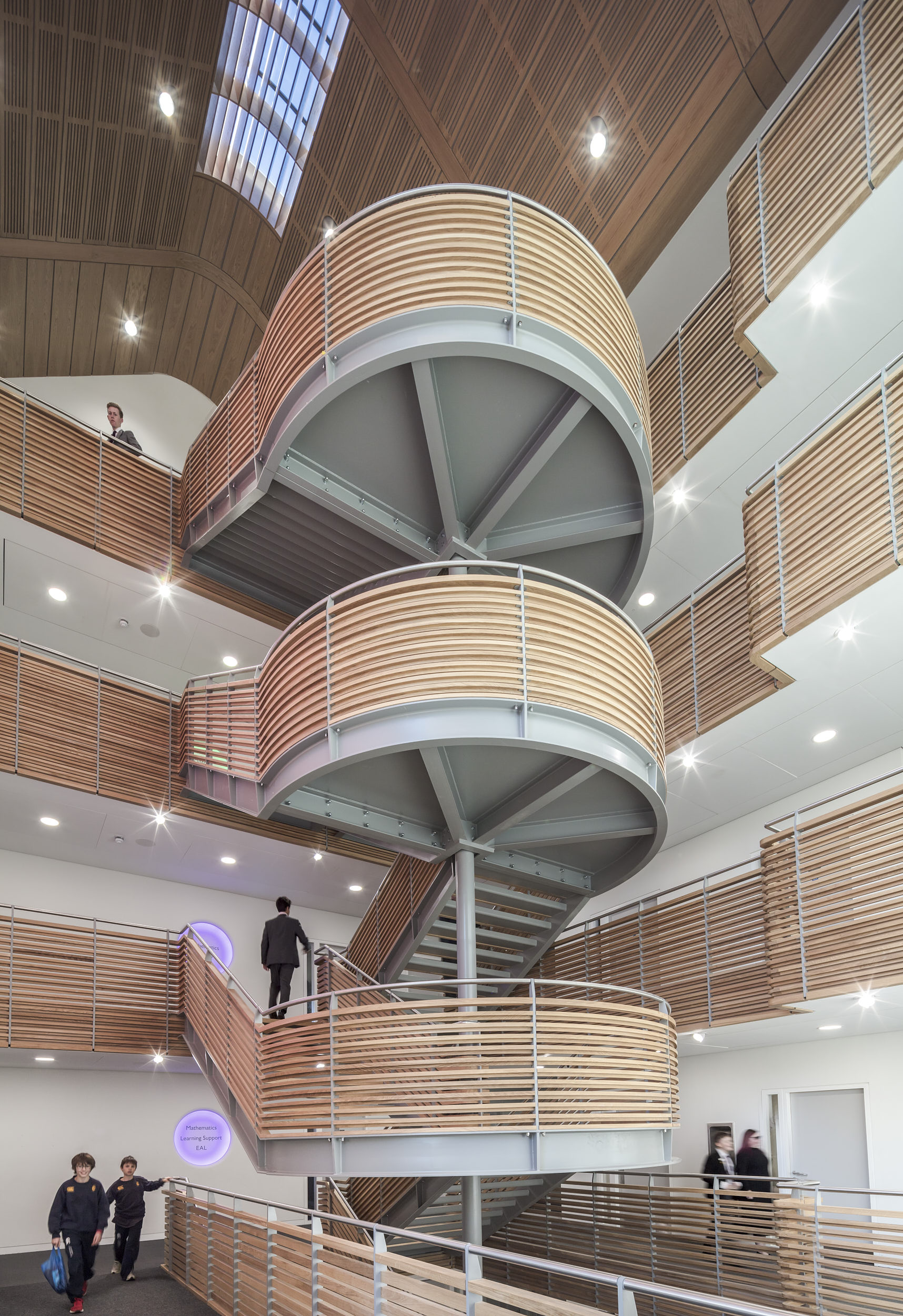 Interior staircase view.