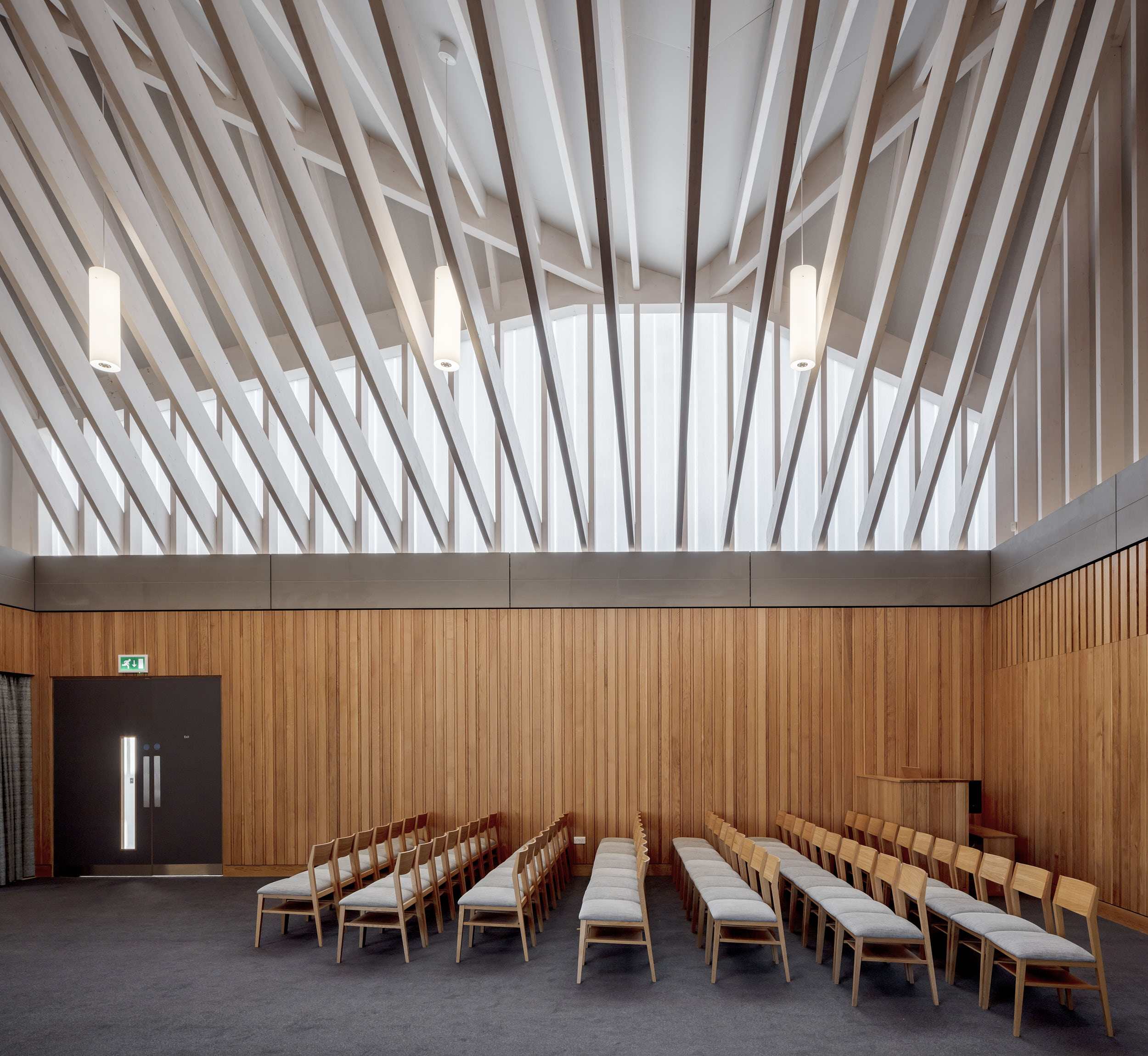 Interior elevational view of the new chapel.