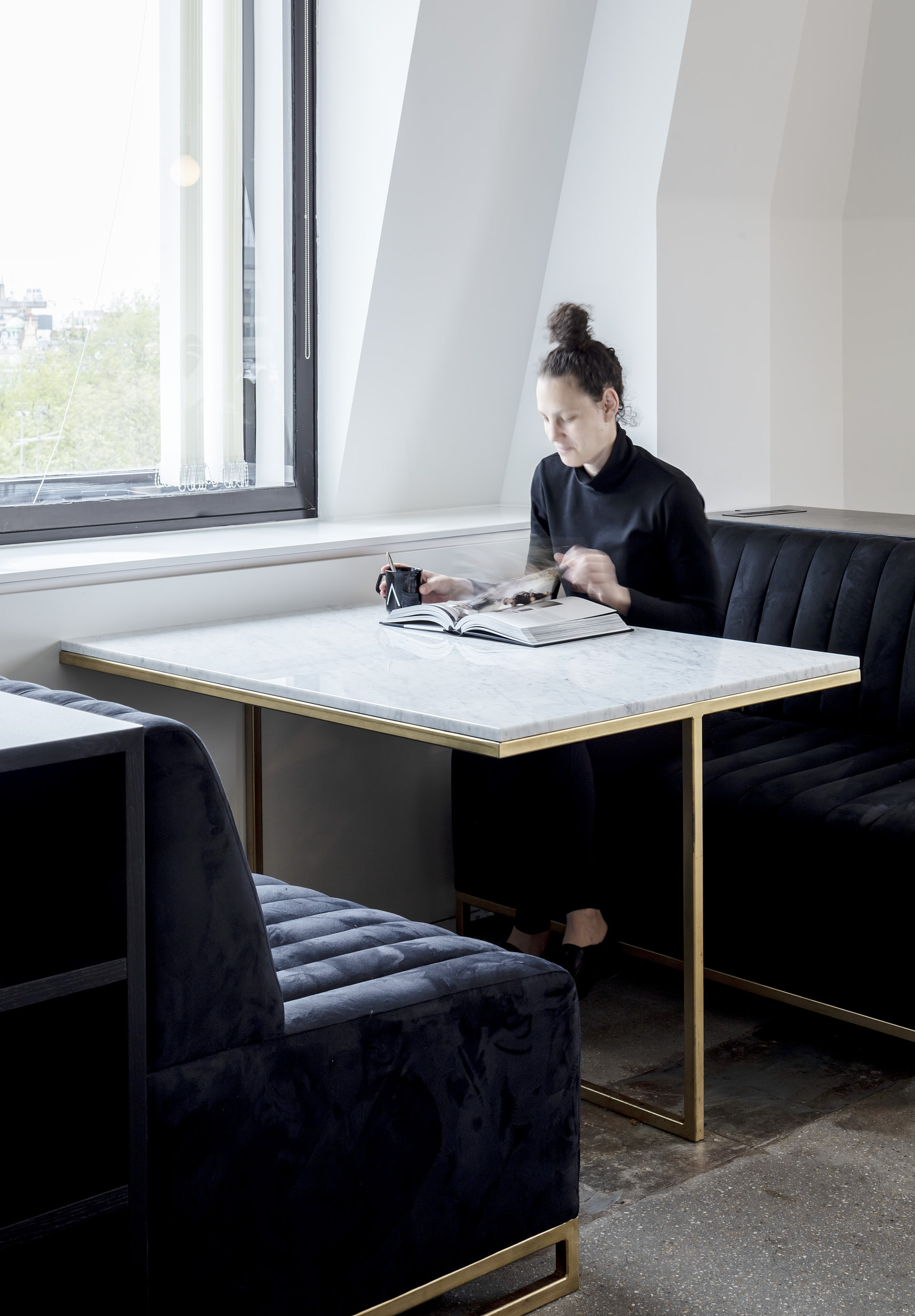 Booths create tranquil environments for study and work.