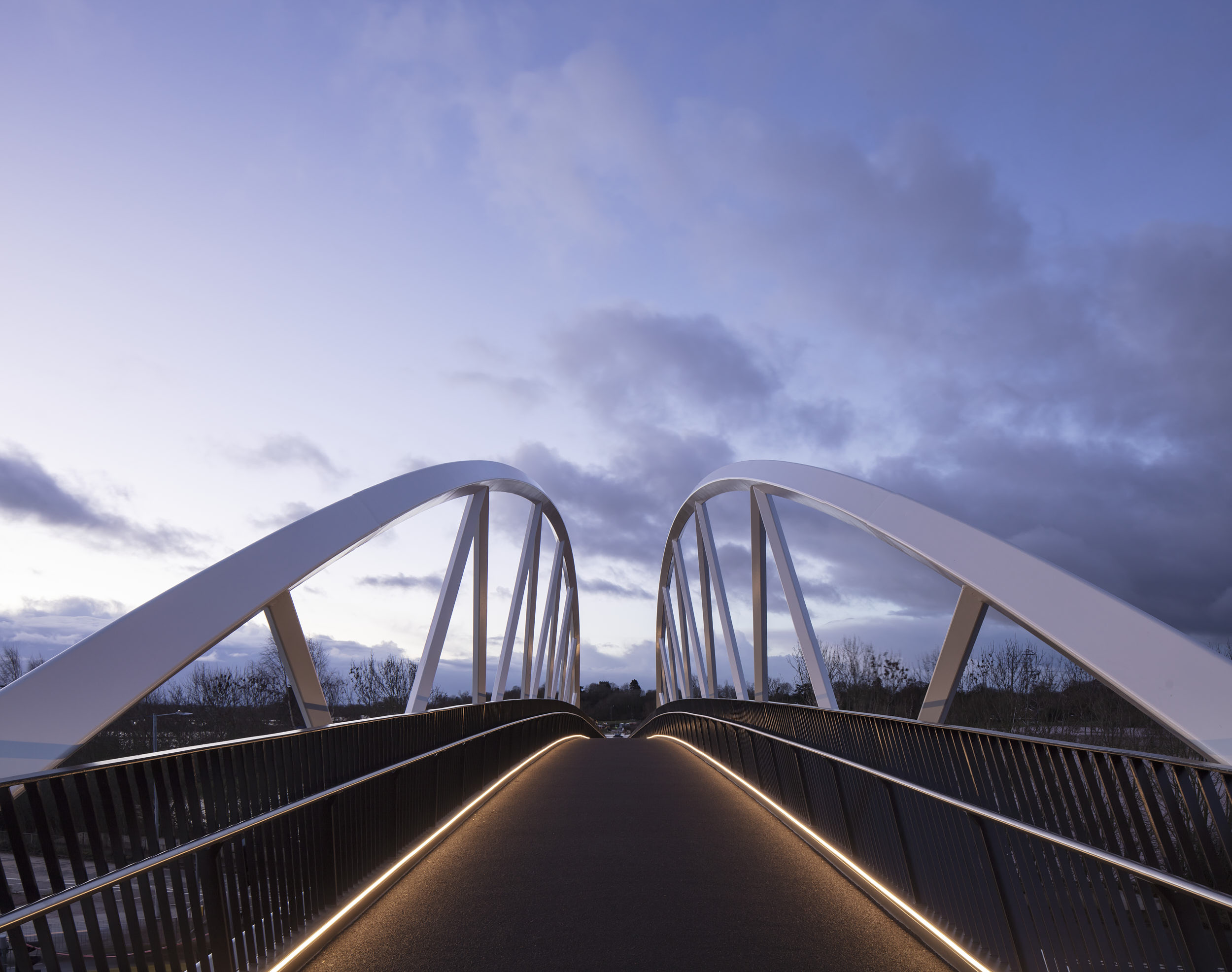 Architectural photography of the new bridge.