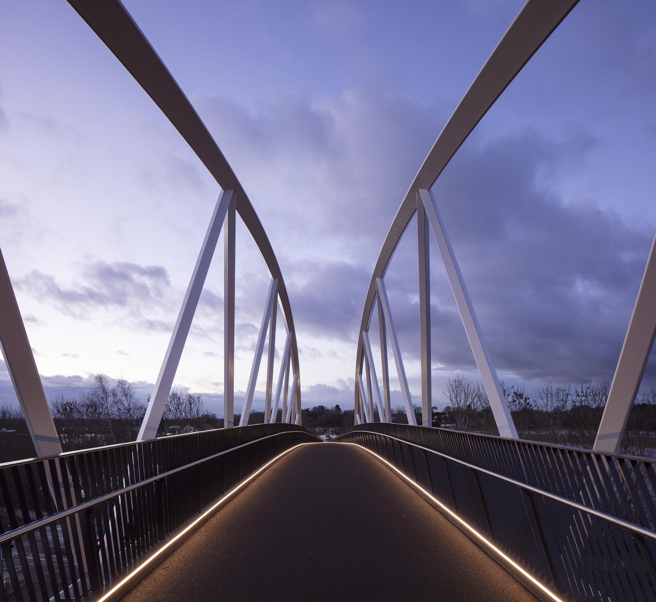 The bridge design creates a memorable experience of crossing it.