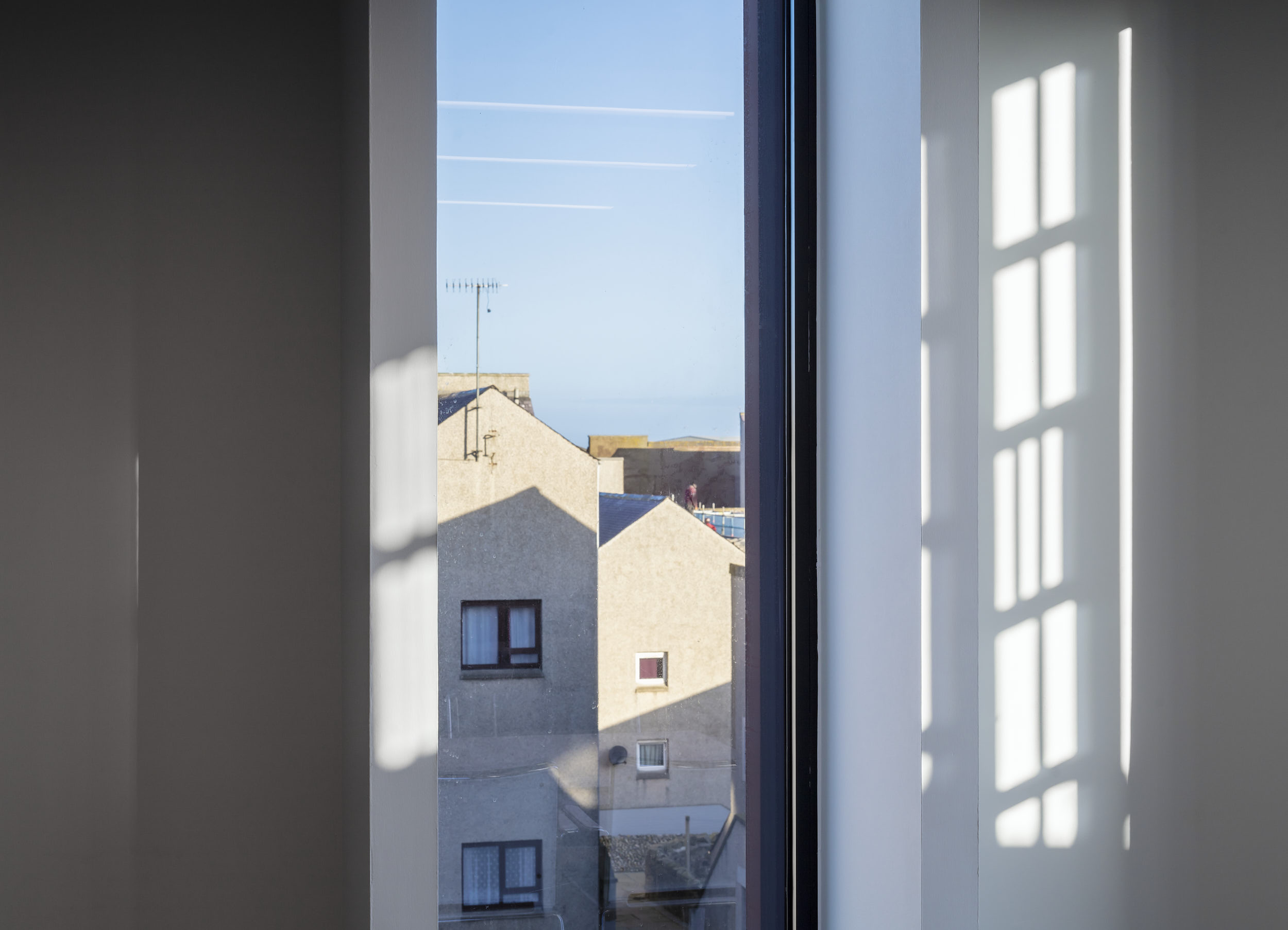 Meeting room provides great views and delightful architectural moments.