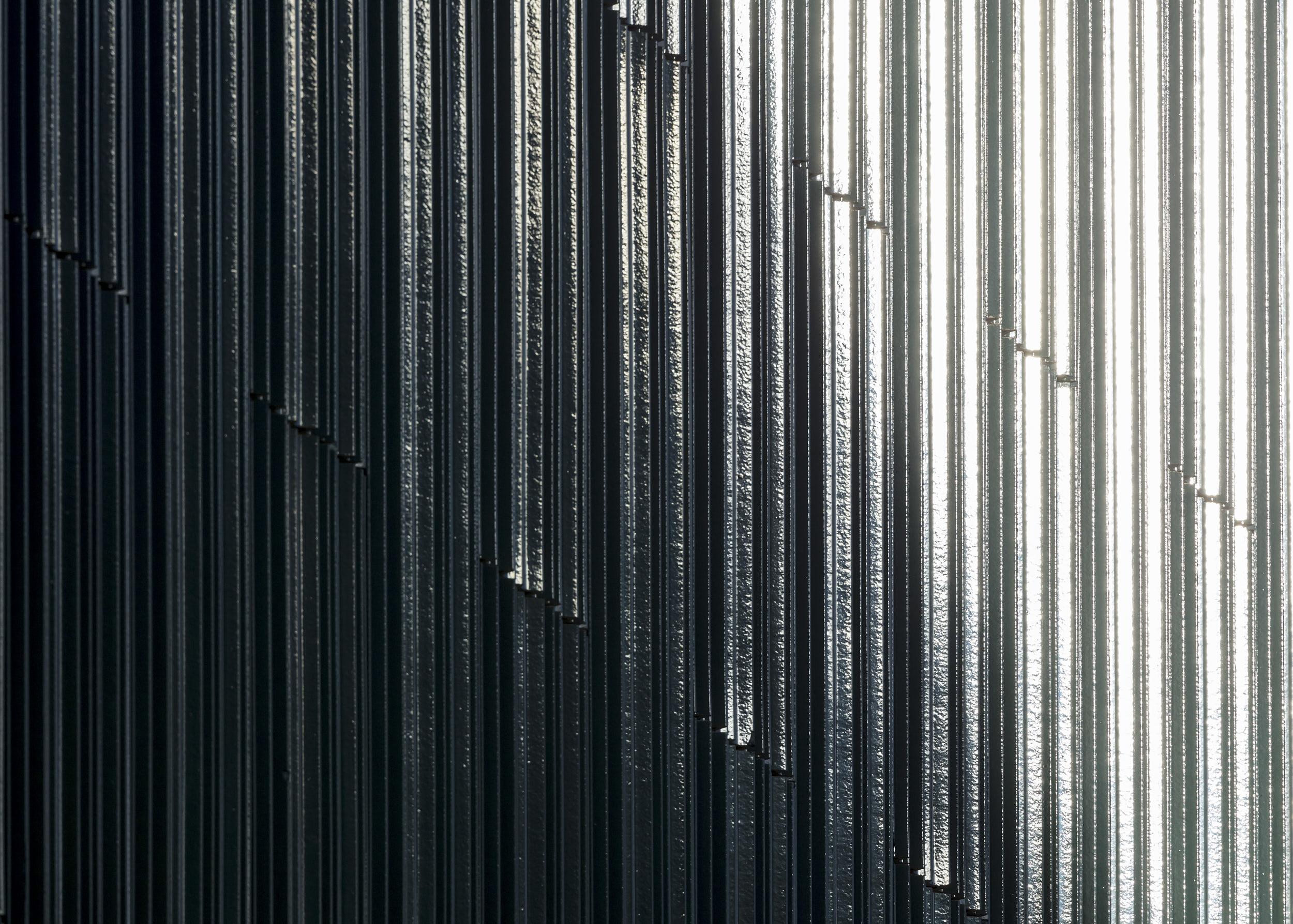 Exterior architectural cladding details photograph.