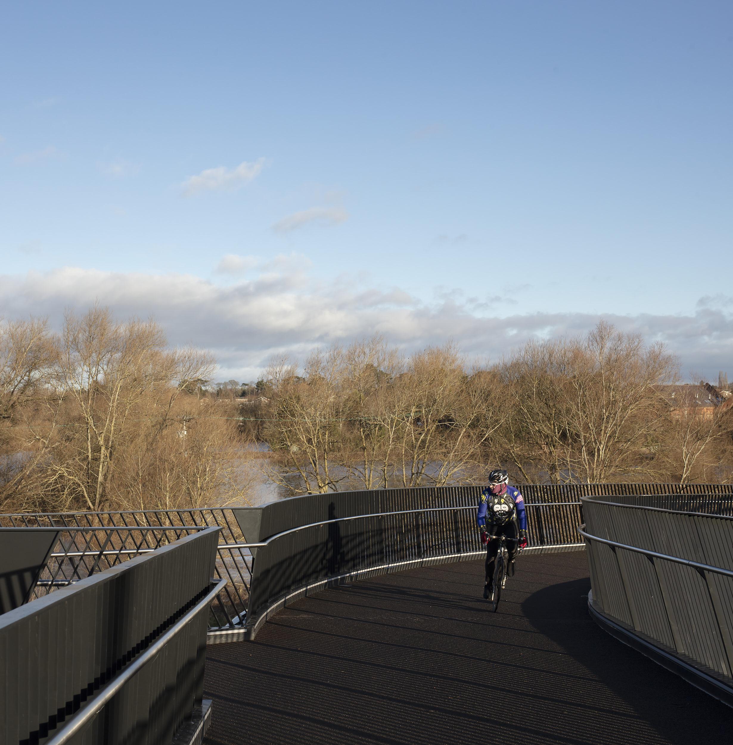 The bridge provides beautiful views of the surrounding area.